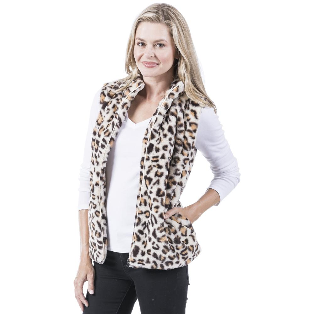 Winter Fur Leopard Vest