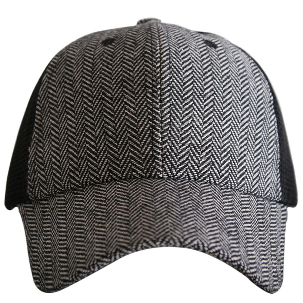 Black Herringbone Trucker Hat