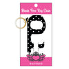 Black Polka Dot Hands Free Key Chain