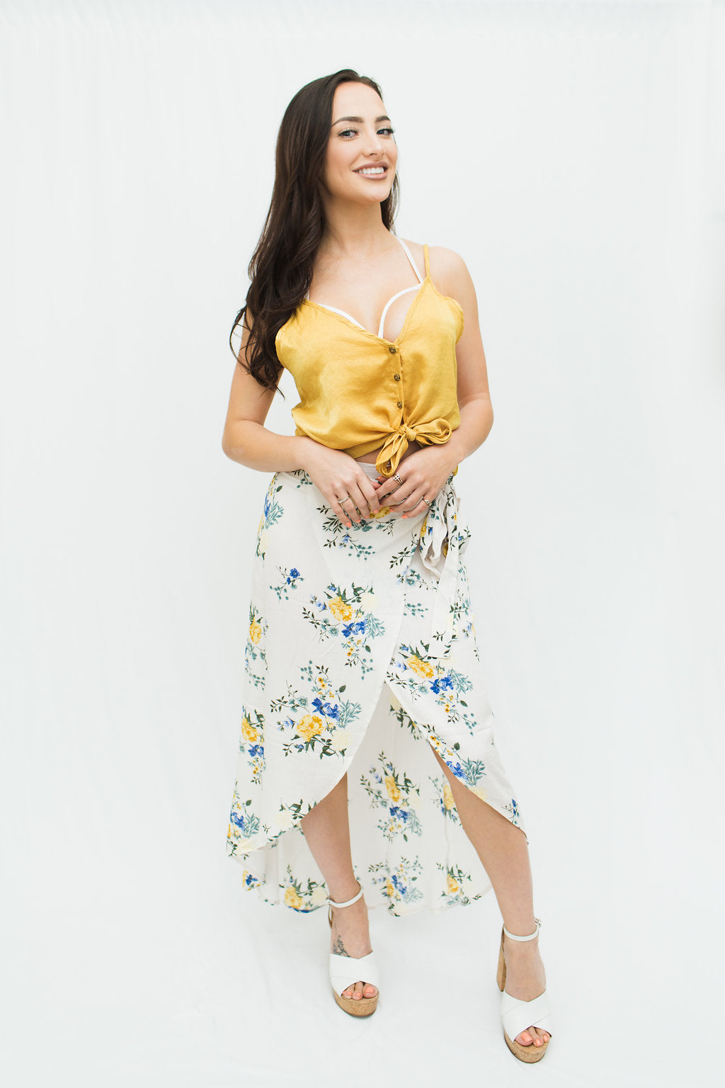 Angela Floral Wrap Skirt