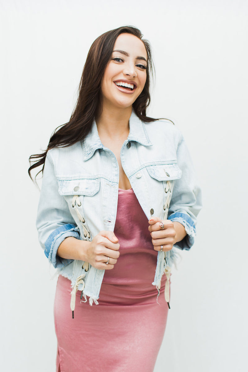 Savannah Cropped Denim Jacket