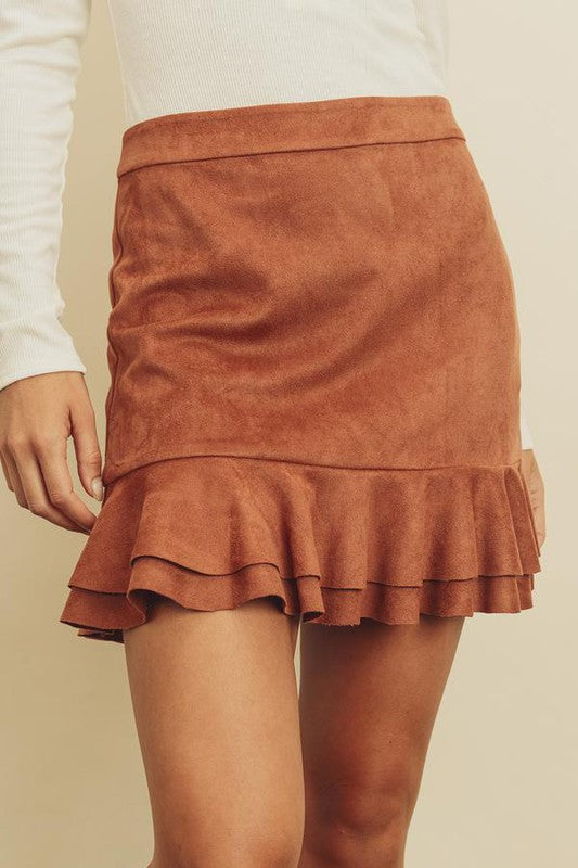Suede You Not Skirt