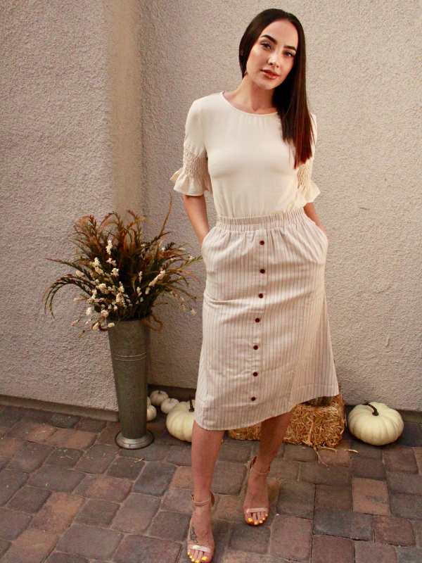Lawrel Button Skirt