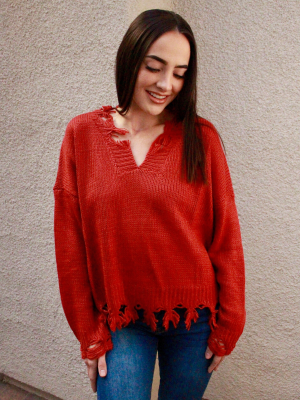Rust Nina Knit Sweater