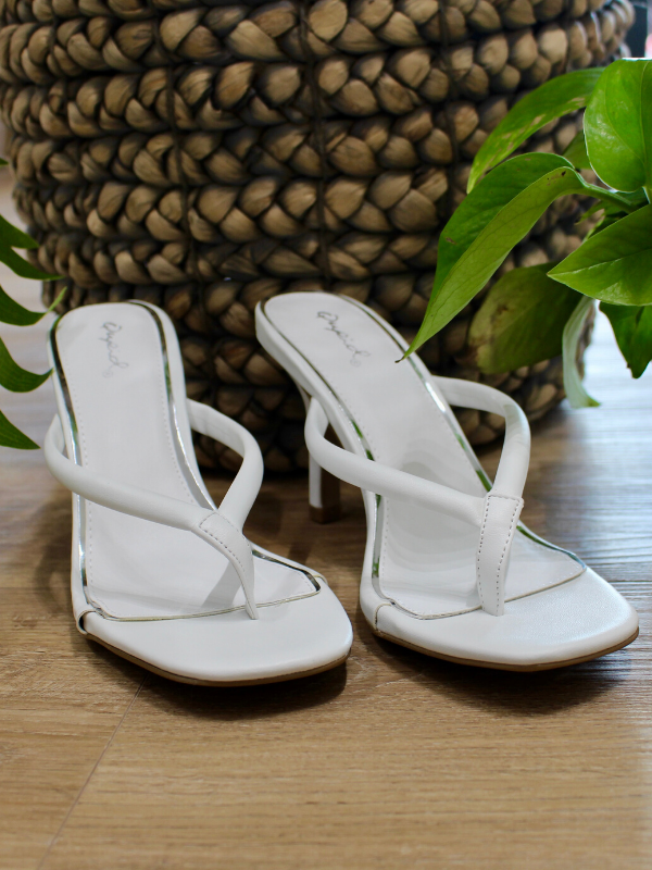 White Isley Heeled Sandal