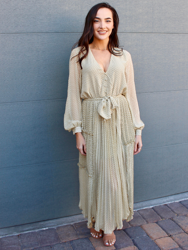 Abigail Pleated Maxi
