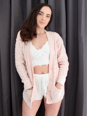 Take Me To Bed Peach Cardigan