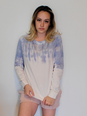 Maverick Purple Tie Dye Pullover