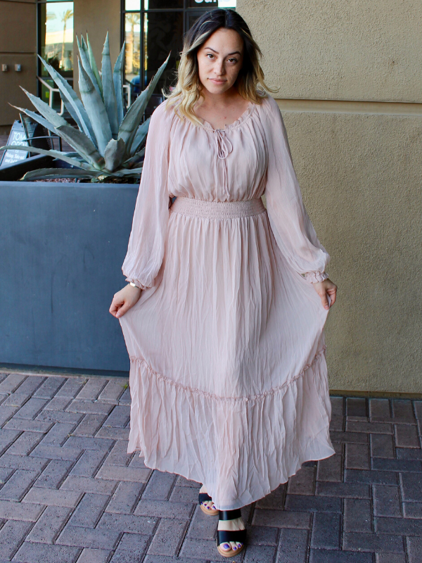 Remember Me Blush Maxi Dress