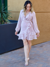 Sweetheart Mauve Mini Dress