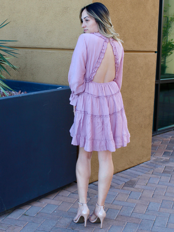 Stolen Hearts Mauve Dress