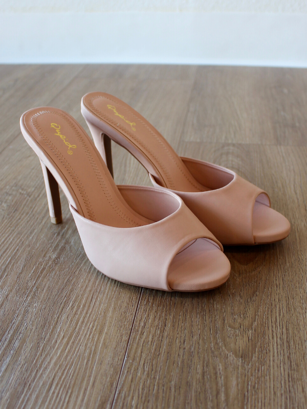 Blush Slide In Heel