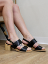 Black Double Band Slingback Sandal