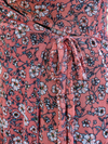 Isabella Floral Mini Wrap Dress