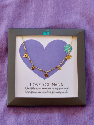 Gold Nana Bear Necklace