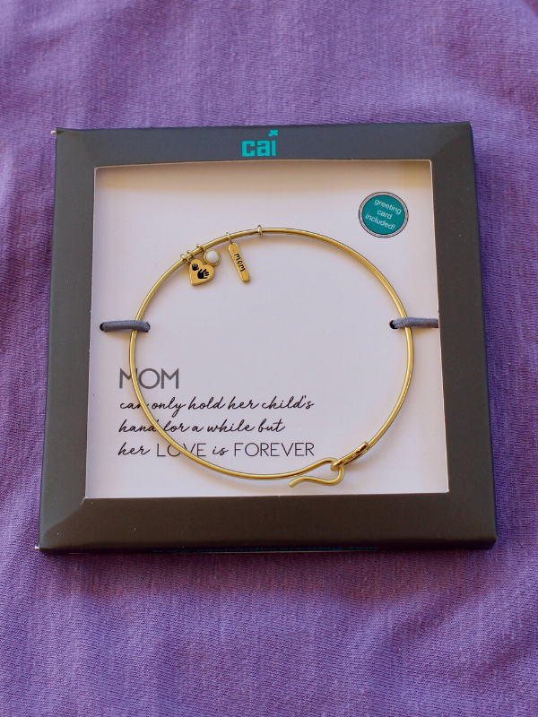 Gold Mom Bangle Bracelet