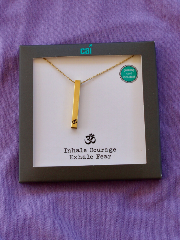 Gold Inhale Courage Necklace