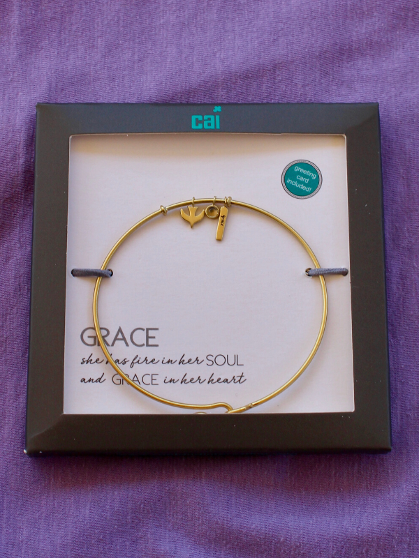 Gold Grace Bangle Bracelet