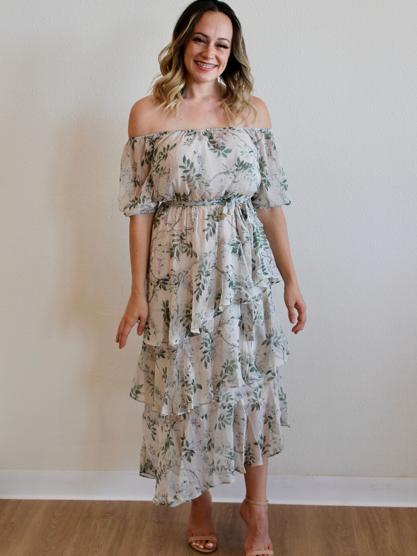 Emery Tiered Midi Dress