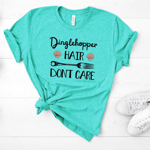 Sea Green Dinglehopper Hair Tee
