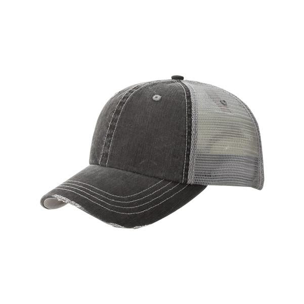 Distressed Grey Trucker Hat