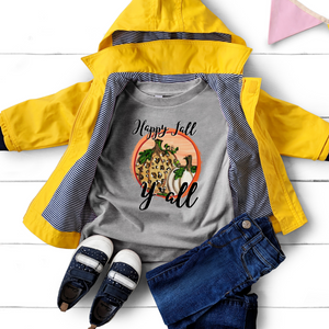 S- Happy Fall Y'all Cheetah Pumpkins ~ Athletic Heather Adult/Kids/Toddler/.Baby-mae-Shop-Wholesale-Womens-Boutique-Custom-Graphic-Tees-Branding-Gifts