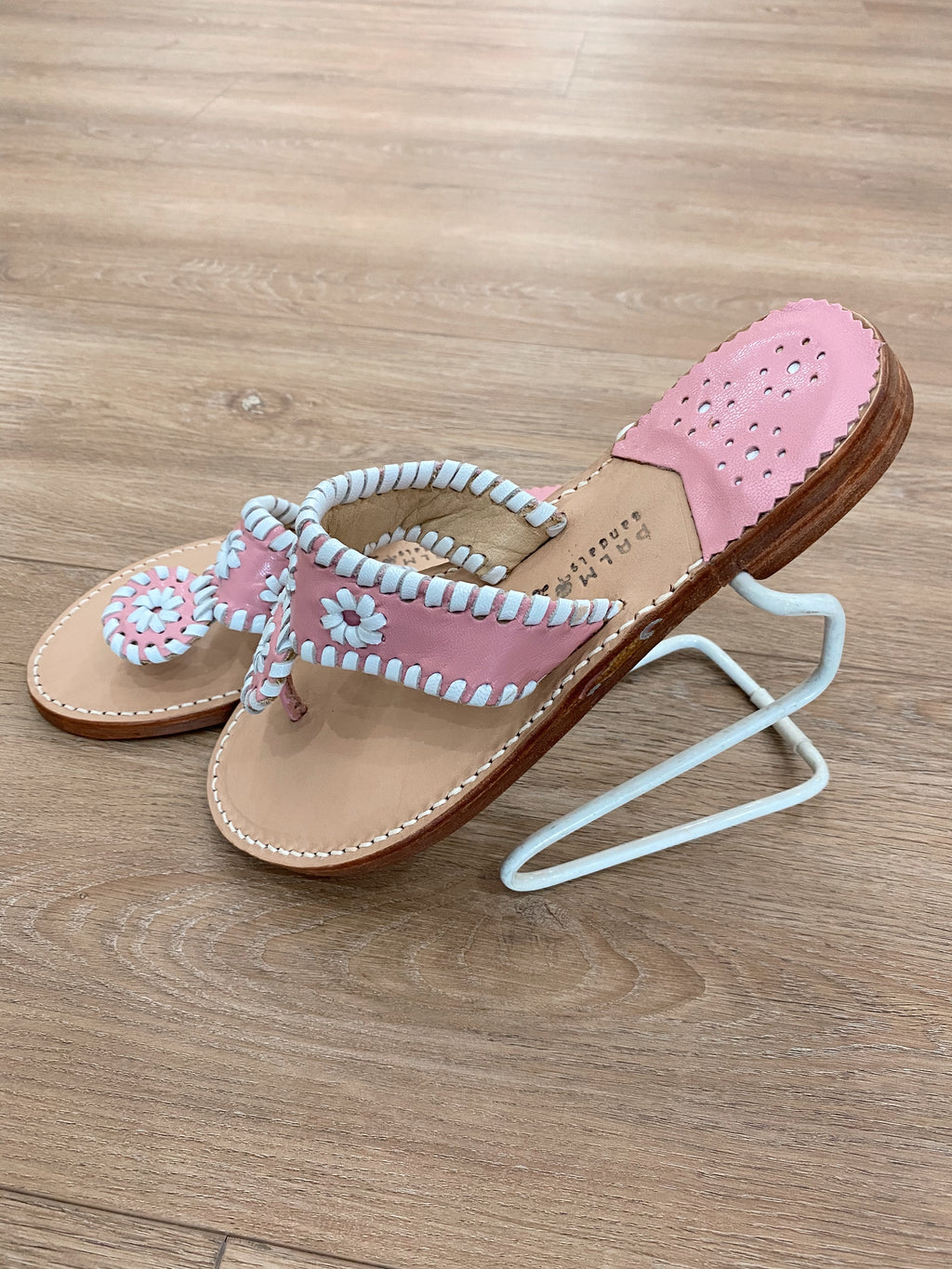 .Palm Beach Pink & White Sandals