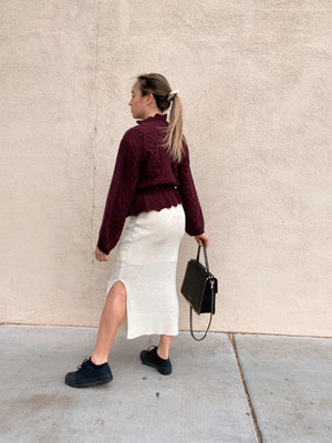 Buttercream Sweater Skirt