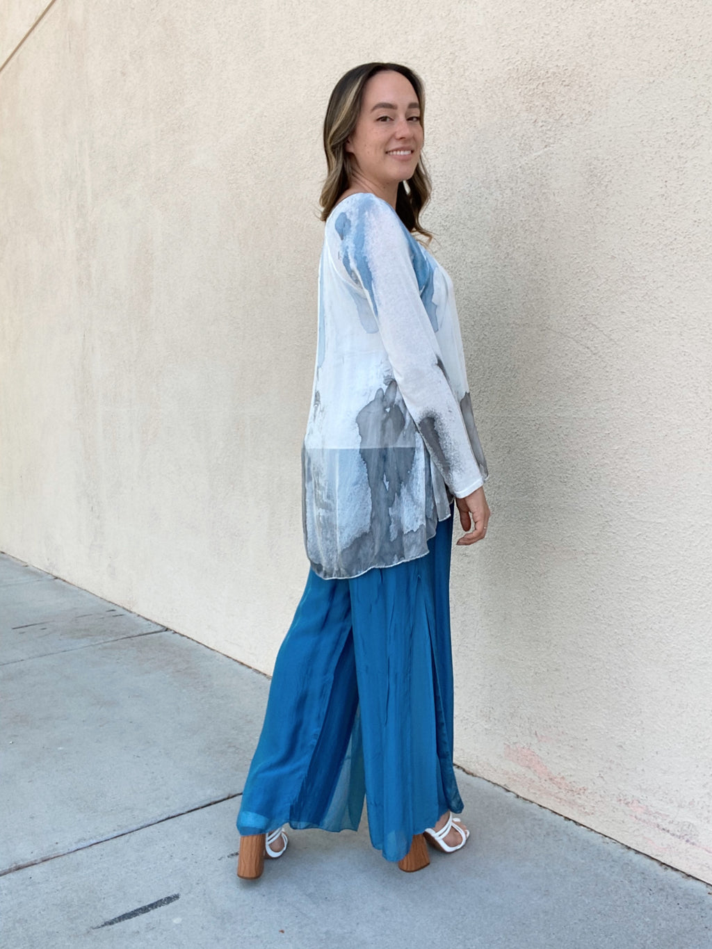 .Cobalt Free Silk Pants