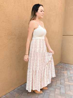 Teaching From Home Tiered Maxi Skirt