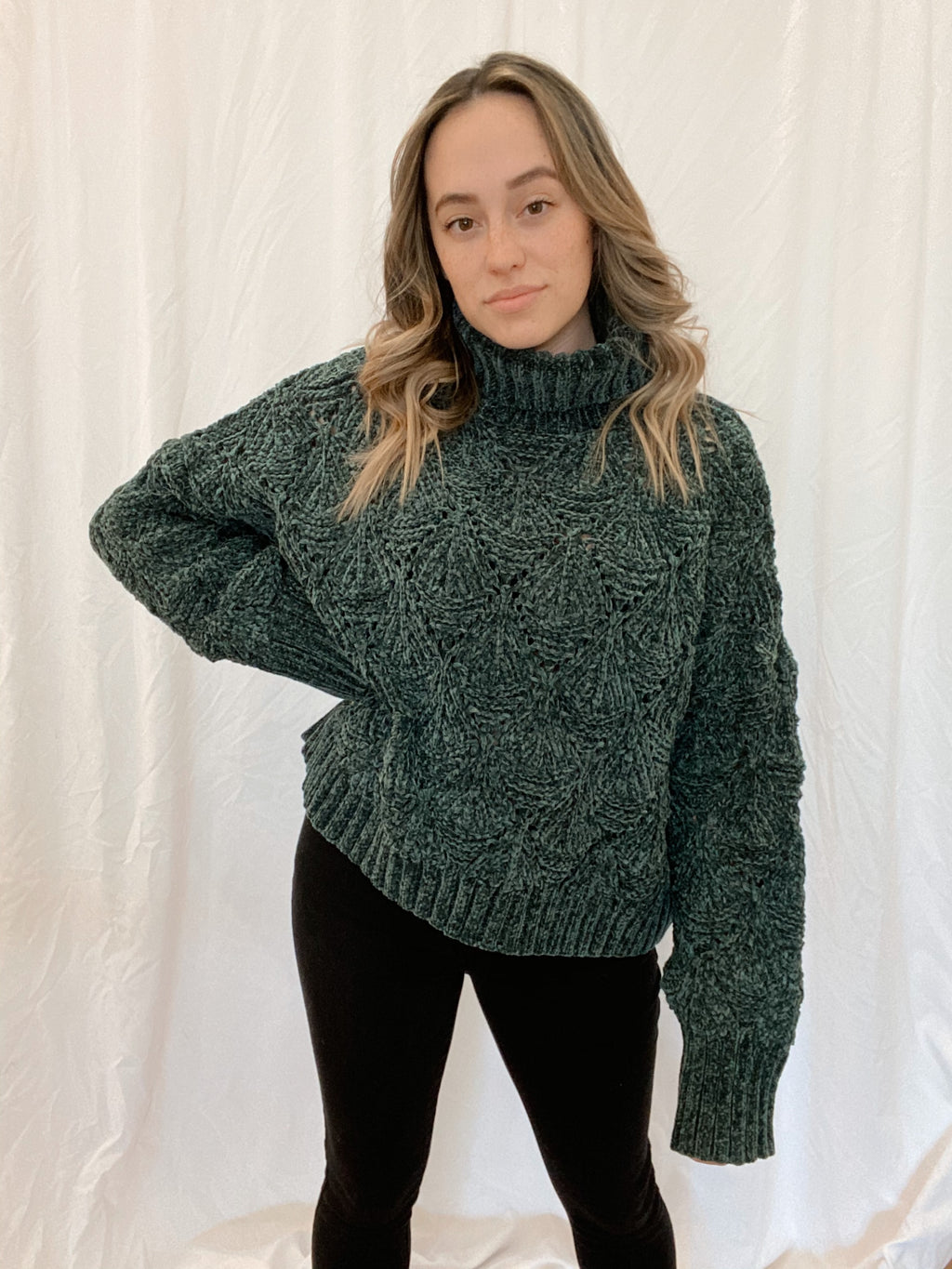 Gemstone Cropped Sweater