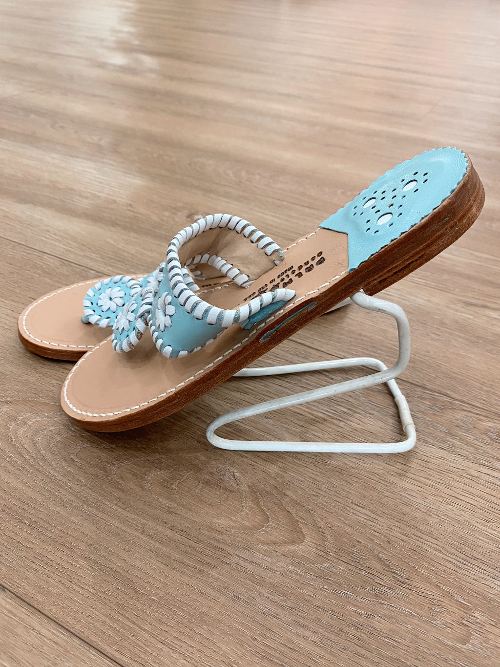 .Palm Beach Blue & White Sandals