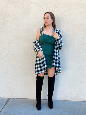 Green With Envy Mini Dress
