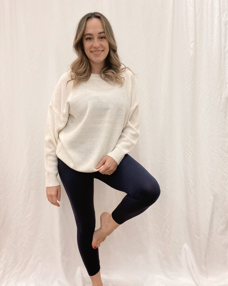 Navy Cropped Leggings