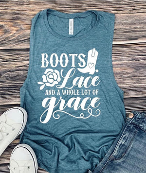 Boots And Lace Tank