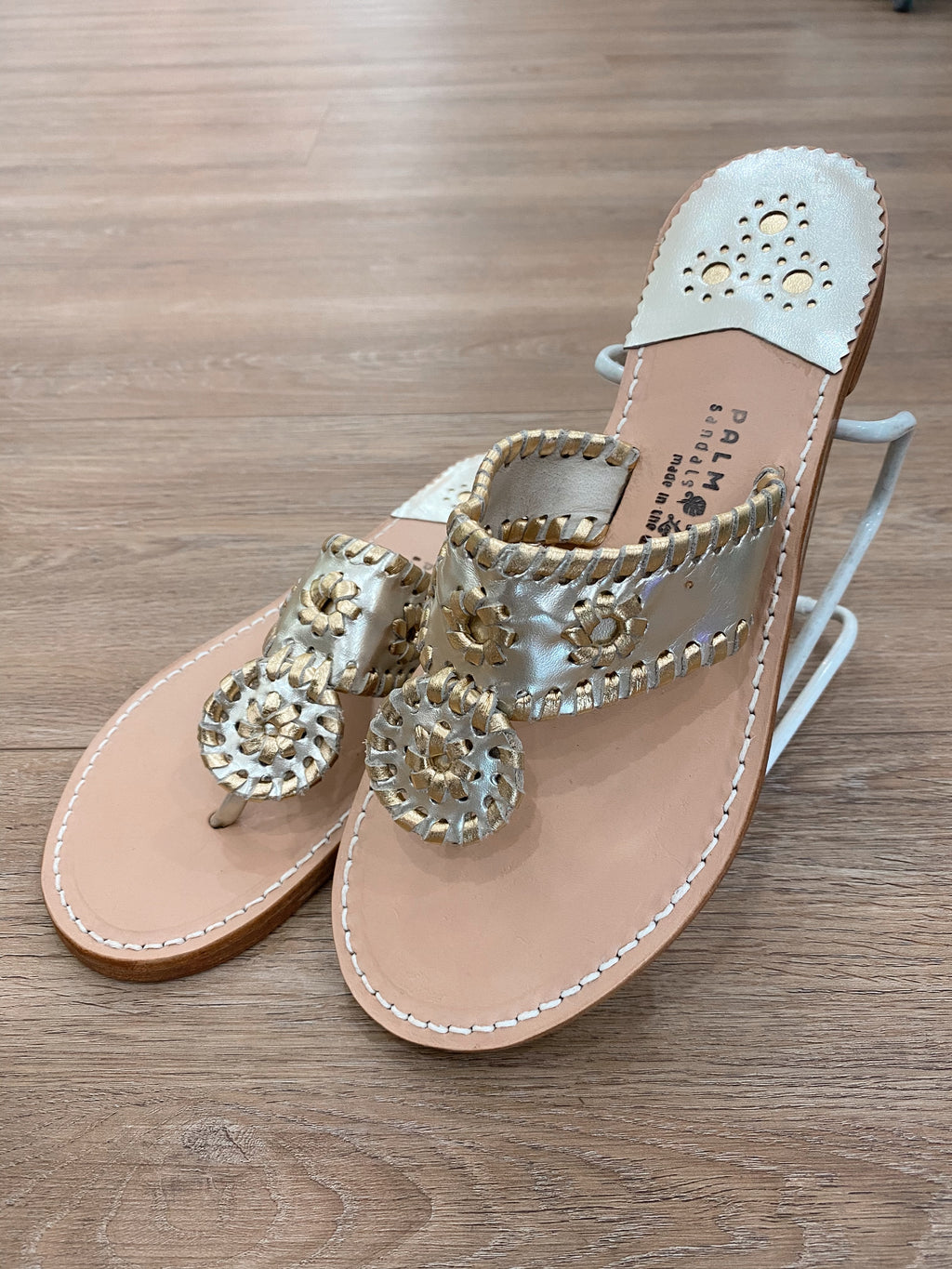 .Palm Beach Platinum & Gold Sandals