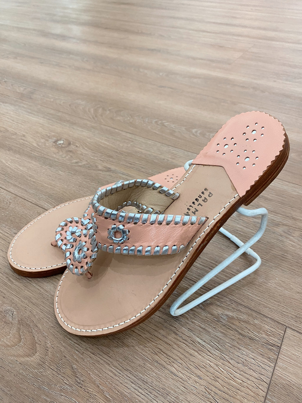 .Palm Beach Blush & Silver Sandals