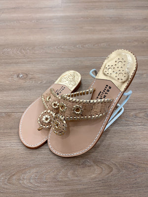 .Palm Beach Cork & Gold Sandals