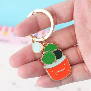 Super Cute Kawaii Succulent Keyrings