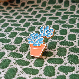 Super Cute Echeveria Succulent Lapel Pin