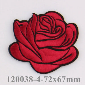 Beautifully Illustrated Iron on Rose Patches