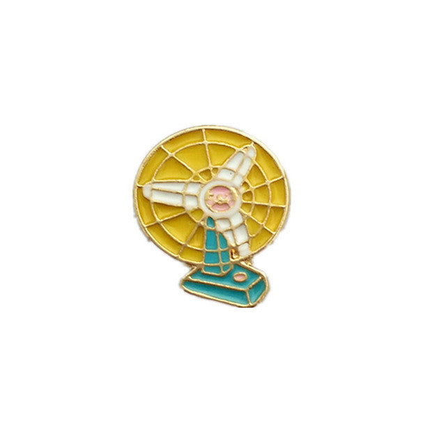 Cute Retro Desk Fan pin
