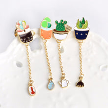 Super Cute Kawaii Potted Succulent Lapel Pins
