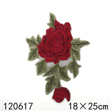 3D Layered Rose Patch