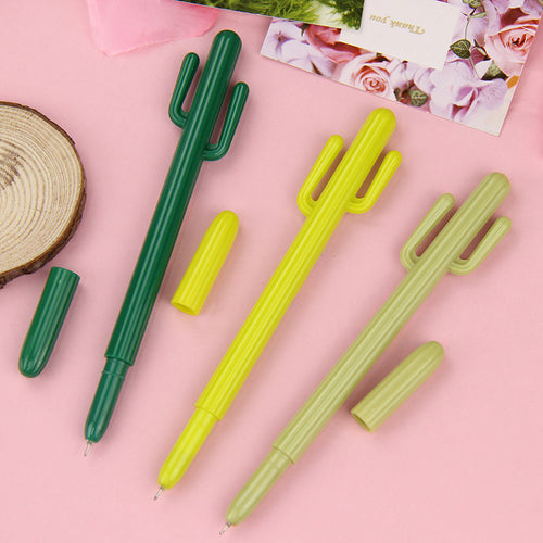 Set of 3 Cute Kawaii Cactus Pens