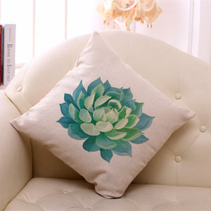 Beautiful Linen Cactus Cushion Cases 45X45cm