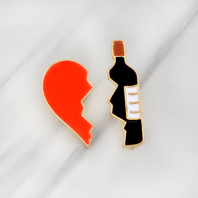 Two-piece ❤️ Wine pin