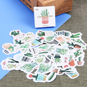 60% OFF - 100 + Stickers - Kawaii Succulents and Cacti