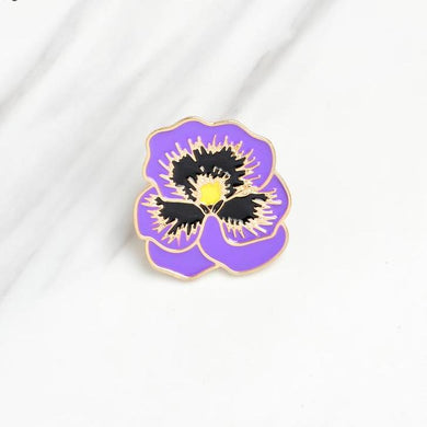 🌸 Purple Pansie Lapel Pin