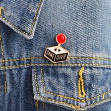 Game Over Enamel Lapel Pin